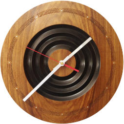 Hand made Kiaat wooden clock