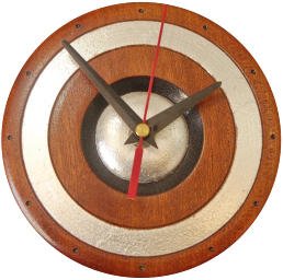 Hand made Imbuia wooden clock